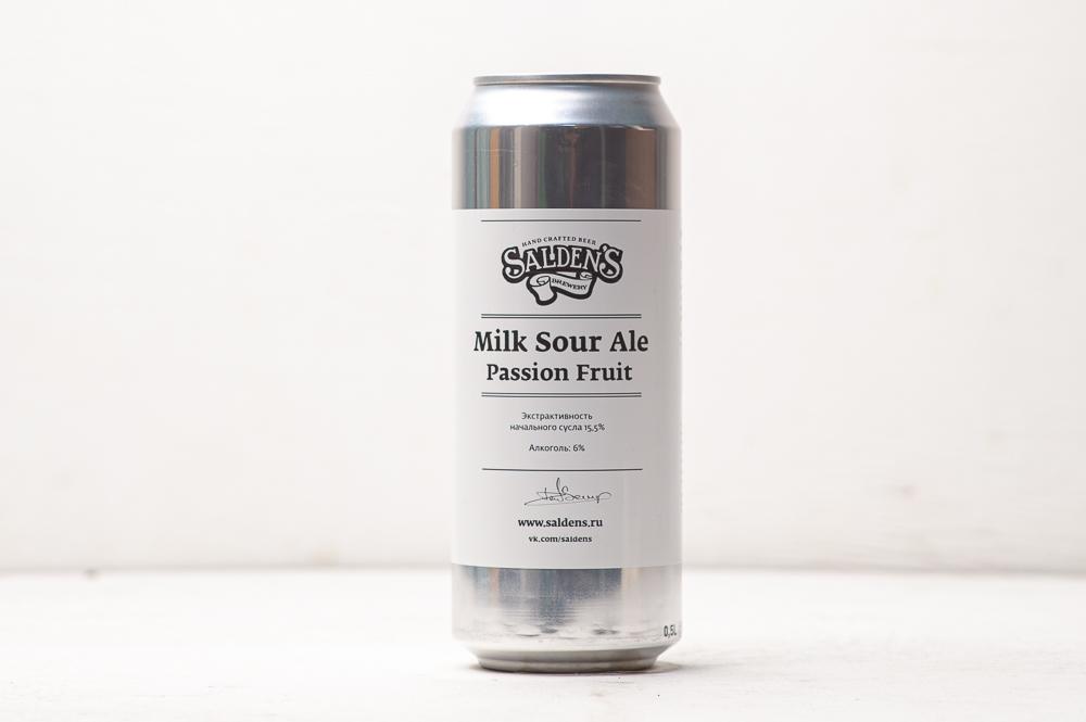 Milk sour ale with passionfruit